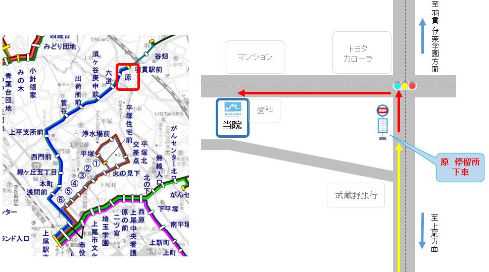 上尾駅東口→羽貫駅前・伊奈学園