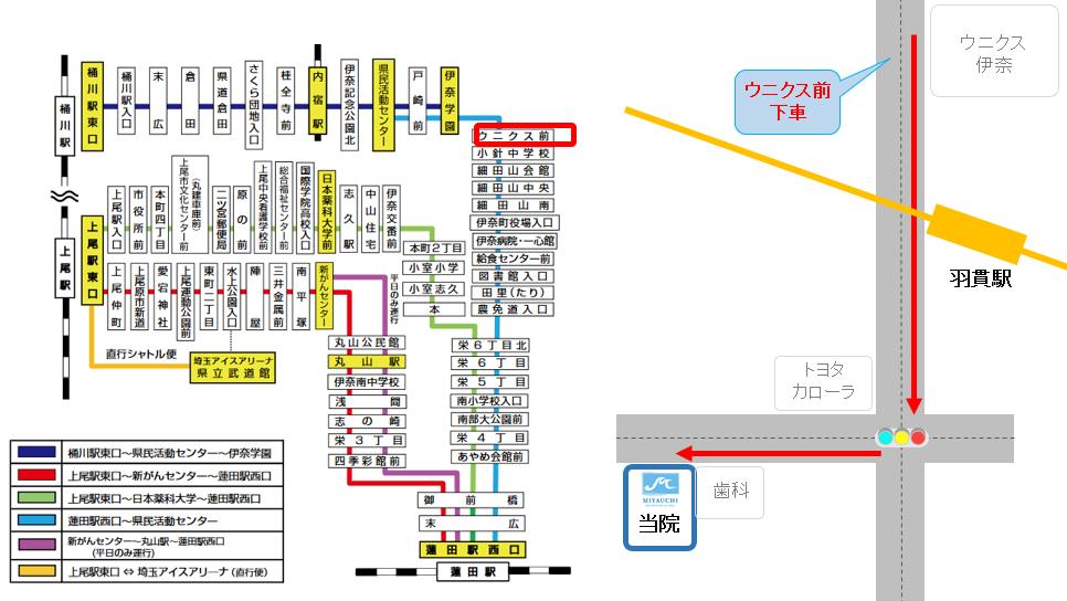 蓮田駅西口~県民活動センター(系統番号:14)